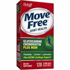 NEW Schiff Move Free Glucosamine Chondroitin Plus 1500 Mg MSM 120 Tabs