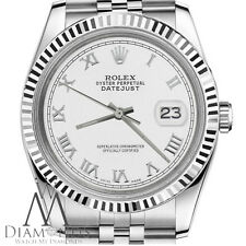 Classic Man`s Rolex 36mm Datejust White Color Roman Numeral Dial Steal Watch