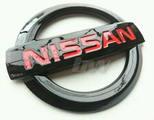 CUSTOM BLACK GLOSS & RED NISSAN BADGE 250Z GTR 370Z NAVARA JUKE NOTE