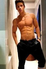Shirtless Male Beefcake Muscular Frat Boy Awesome Physique Guy PHOTO 4X6 D224
