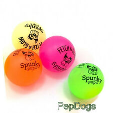 "Spunky Pup Glow in Dark Ball MEDIUM 2.5"" Latex Rubber Buddy's Fetch Dog Toy"