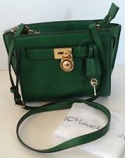 NWT Michael Kors Hamilton Traveler Messenger Green Gooseberry Crossbody Purse