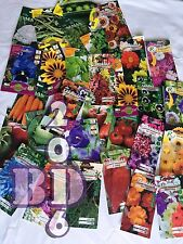 A LOT OF SEEDS - MIXED FLOWERS & VEGETABLES -  7 PACKS - MYSTERY - HAPPY GARDEN