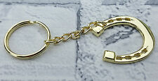 Lucky Metal Horseshoe Keyring 3x3cm 6cm Chain Horse Gold Silver Charm