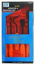 5 PC SCRAPER & REMOVER SET, COTTER PIN PULLER, HOSE REMOVER, SCRATCH AWL, & MORE