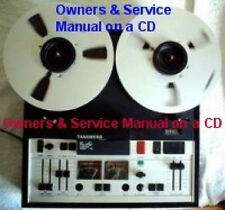 Tandberg 10X Reel To Reel Owners & Service Manuals Cdfree Same Day Shipping