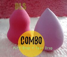 COMBO of 2 Pcs Beauty Blender Makeup Foundation Sponge Powder Puff (LATEX FREE)
