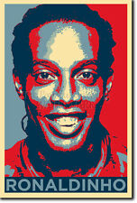 RONALDINHO ART PHOTO PRINT (OBAMA HOPE) POSTER GIFT