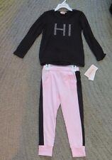 Juicy Couture Toddler Girls Pink & Black 2 Piece Long Sleeve Set - Size 4T - NWT