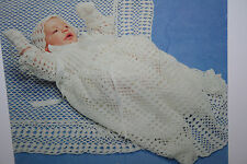 Christening Robe, Shawl and Accessories Crochet Pattern