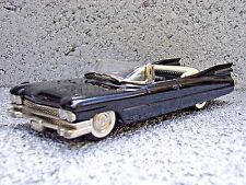 M.A.E. Models 1959 Cadillac Convertible Black 1:43 Scale Metal Model Classic Car