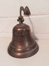 VITG TITANIC 1912 BRASS BELL WITH ROPE and HANGING BRACKET for WALL MOUNT