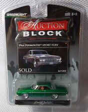 1964 PLYMOUTH SPORT FURY GREENLIGHT Auction Block GREEN MACHINE CHASE #95 of 200