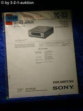 Sony Service Manual TC S3 Cassette Deck (#5020)