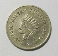 Old Transit Token Coin Electric Traction Co. Muskogee Ok Indian Capital