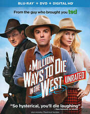 A MILLION WAYS TO DIE IN THE WEST (BLU-RAY/DVD 2014) BRAND NEW~ 2 DISC SET~