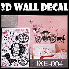 3D Carriage Wall Sticker decals Home Decor Decoration Wallpaper Room Art