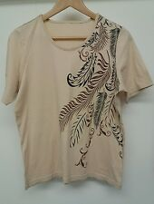 Nude Feather Top Size 16 Tee T-Shirt  J2149