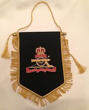 Royal Artillery Pennant, Army, Military, Gift, Present, Blazer Badge, RA, Flag