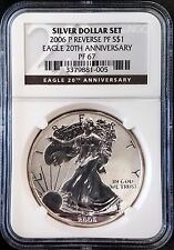 2006 P Reverse Proof Silver Eagle, 20th Anniversary, graded PF 67 by NGC!