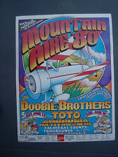 Huey Lewis and The News 1980 Concert Poster Doobie Brothers Toto rare