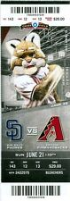 2015 Diamondbacks vs Padres Ticket: Jeremy Hellickson win/Andrew Chafin 1st save