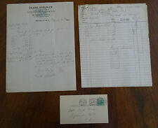 1924 & 1927 Frank Schebler Fishing Tackle Bklyn NY Letterhead Correspondence