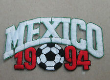 MEXICO COLLECTABLE RARE VINTAGE PATCH EMBROIDED 1994 OLYMPIC SOCCER WORLD CUP