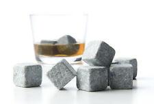 45 Pcs Whiskey Soapstone Cold Glacier Whisky Stone Cube Rocks Cooler ICE w Bag