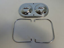 CHROME GM BRAKE MASTER CYLINDER COVER DUAL BAIL BRAKES CHEVY SBC BBC 350 454 COR