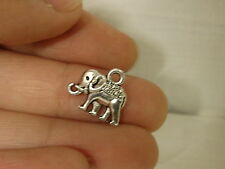 10 elephant charm pendant tibetan silver antique style wholesale craft uk 3D