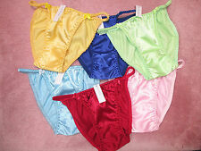 LOT OF 3 PRETTY & COMFORTABLE STRING SATIN PANTY M SIZE