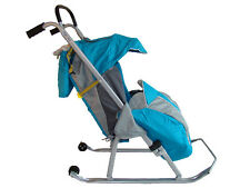 Baby Sled Stroller Blue Winter Outdoor sport equipment, traineau poussette