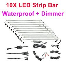 10X Bar 12V Linkable Rigid LED Camping Kit RV Camper Trailer Cabinet Strip Light