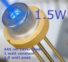 1.5 WATT BLU LASER DIODO 445nm - 450Nm HIGH POWER 5.6 mm BLU LASER DIODO bn1a