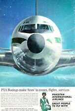 1965 Pakistan International Airlines PIA Boeing Front of Plane  PRINT AD
