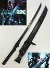 Metal Gear Solid Full Tang Ninja Sword with Black Leather Sheath