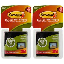 12ct Command 3M Picture & Frame Hanging Strip Sets Medium Size Black Damage-Free