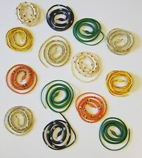 """20 COILED RAIN FOREST RUBBER SNAKES 36"""" TOY REPTILE FAKE JUNGLE SNAKE GAG GIFT"""