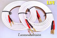 NEW QED ORGINAL HIGH PERFORMANCE AUDIO SPEAKER CABLES 2x 1.0m (Pair) Terminated