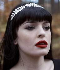 Silber Laurel Blatt Stirnband Griechisch Kopfschmuck Römisch Haar-krone Fest Vtg