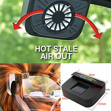 Black Sun Power Solar Car Air Vent Cool Fan Cooler Ventilation System Radiator