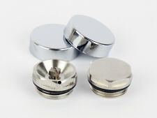 Two Chrome Cover Cap for Towel Rail Radiator blanking plug and air vent valve