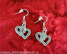 BUY 3 GET 1 FREE~ SILVER HEART EARRINGS~MOTHERS DAY GIFT FOR HER MOM WIFE FRIEND