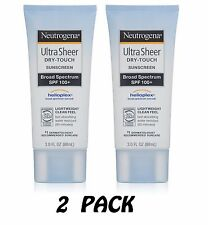 Neutrogena Ultra Sheer Dry-Touch Sunscreen SPF 100 3oz UVA UVB Helioplex 2-PACK