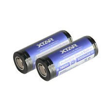 XTAR 26650 5000mAh High Capacity Rechargeable Li-ion Battery Protected for D26