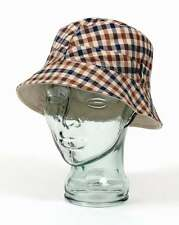 Aquascutum Reversible Bucket Hat in Classic Club Check & Light Beige Stone