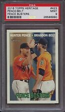 2016 Topps Heritage 423 Hunter Pence Brandon Belt Fence Busters PSA 9 Mint