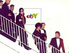 "MICHAEL JACKSON and ELIZABETH TAYLOR leave gala  - 1993 - original 8x10"" photo"