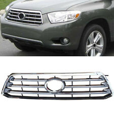 For Toyota Highlander 2008-2010 ABS Chrome Front Grill Grille Replace